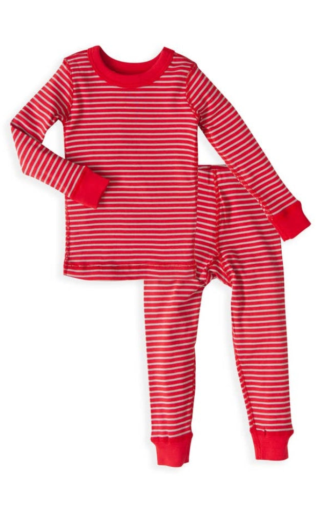 Red/Silver Long Sleeves Pajamas