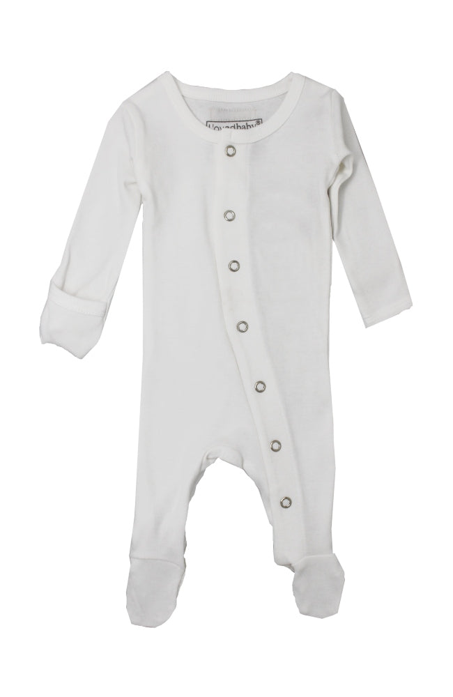 Organic Snap Jumpsuit - White
