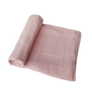Muslin Swaddle Blanket Organic Cotton - Rose Vanilla