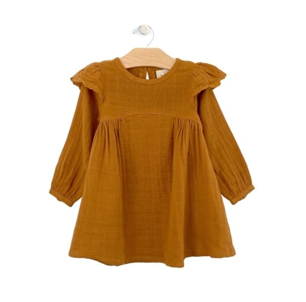Flutter Sleeve Dress - Amber