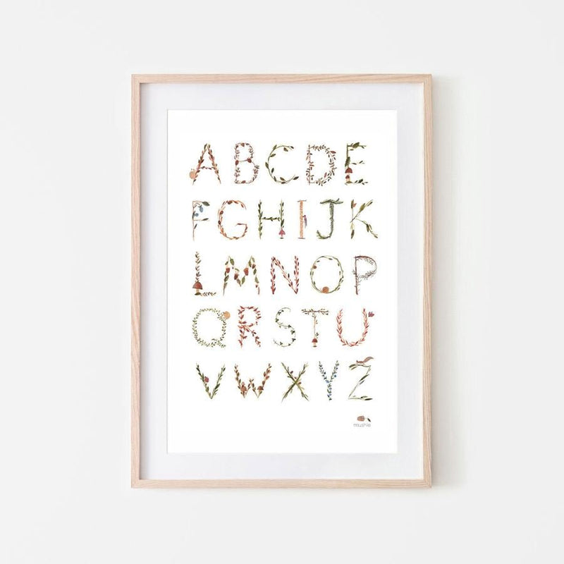 Forest Alphabet Poster