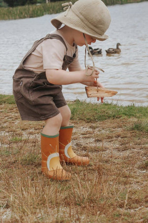 Children's Sun Rubber Boots - Spice