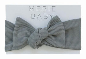Grey Organic Cotton Ribbed Head Wrap