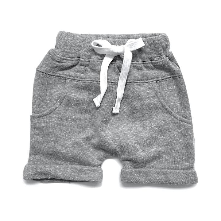 Washed Harem Short - Grey