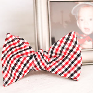UGA Gingham Bow Tie