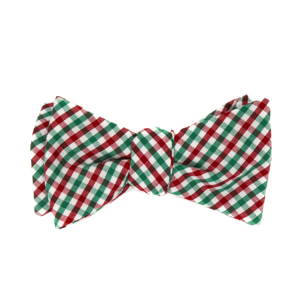 Christmas Gingham Bow Tie