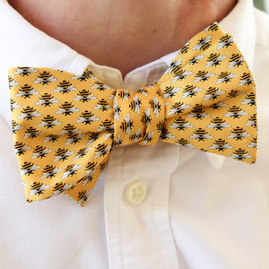 Micro Bees Bow Tie