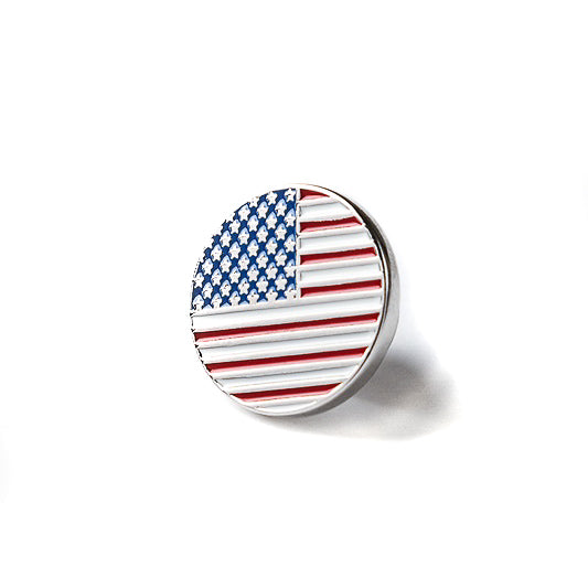 Circle American Flag Lapel Pin