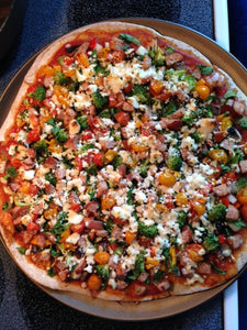 Pizza with Fresh Goat Cheese