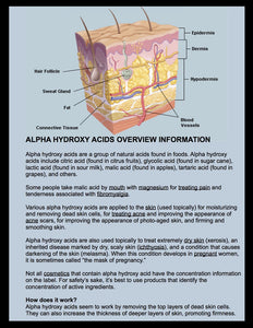 Alpha Hydroxy Acids Overview / Information