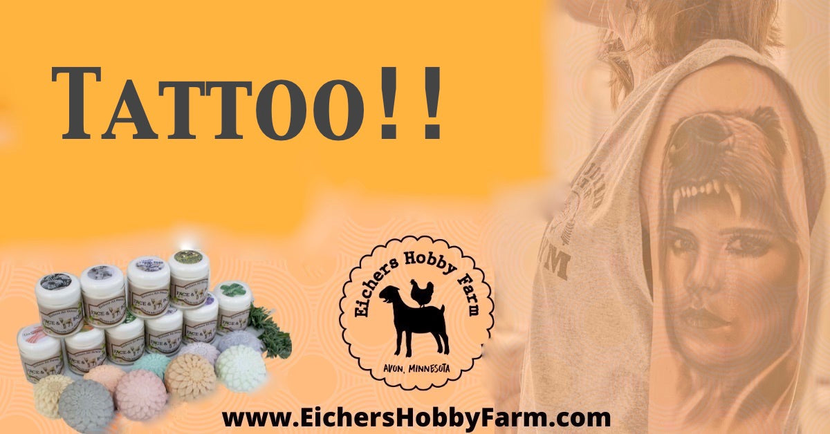 Tattoo Heal Quicker using Goat Milk Face & BodyCream