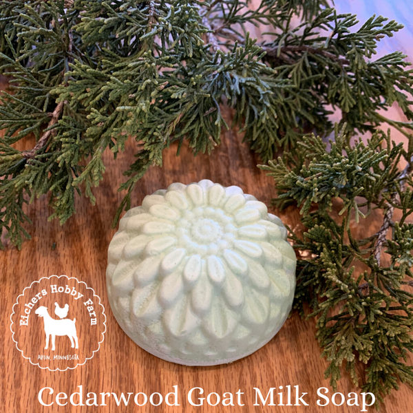 Cedarwood Handcrafted Goat Milk Soap - eichershobbyfarm - Goat Milk Products - Avon, Minnesota