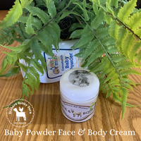 Baby Powder Handcrafted Goat Milk Face and Body Cream - eichershobbyfarm - Goat Milk Products - Avon, Minnesota