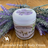 Lavender Handcrafted Goat Milk Face and Body Cream - eichershobbyfarm - Goat Milk Products - Avon, Minnesota