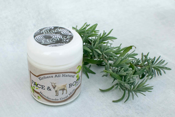 Black Licorice Handcrafted Goat Milk  Face and Body Cream
