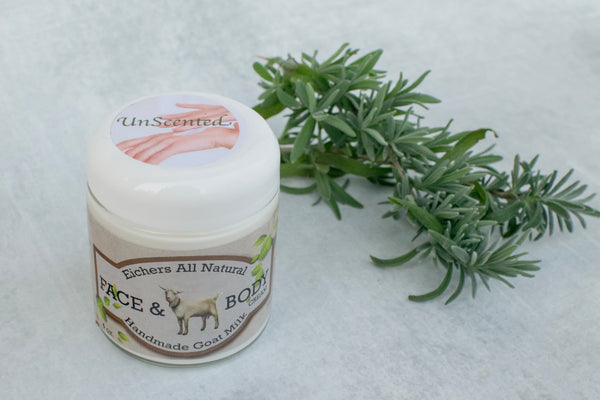 Unscented Handcrafted Goat Milk Soap or Face and Body Cream - eichershobbyfarm - Goat Milk Products - Avon, Minnesota