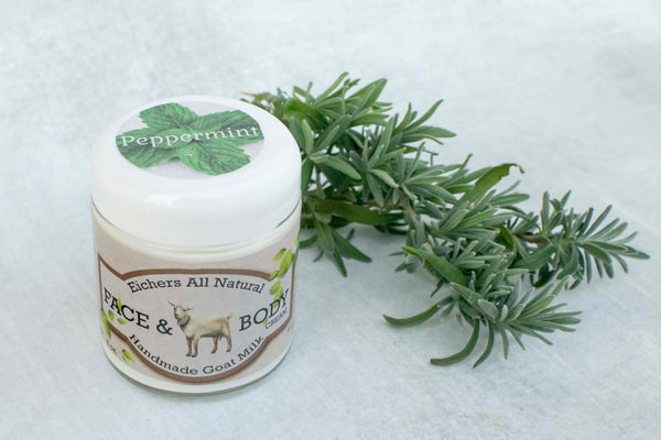 Peppermint Handcrafted Goat Milk Soap or Face and Body Cream - eichershobbyfarm - Goat Milk Products - Avon, Minnesota