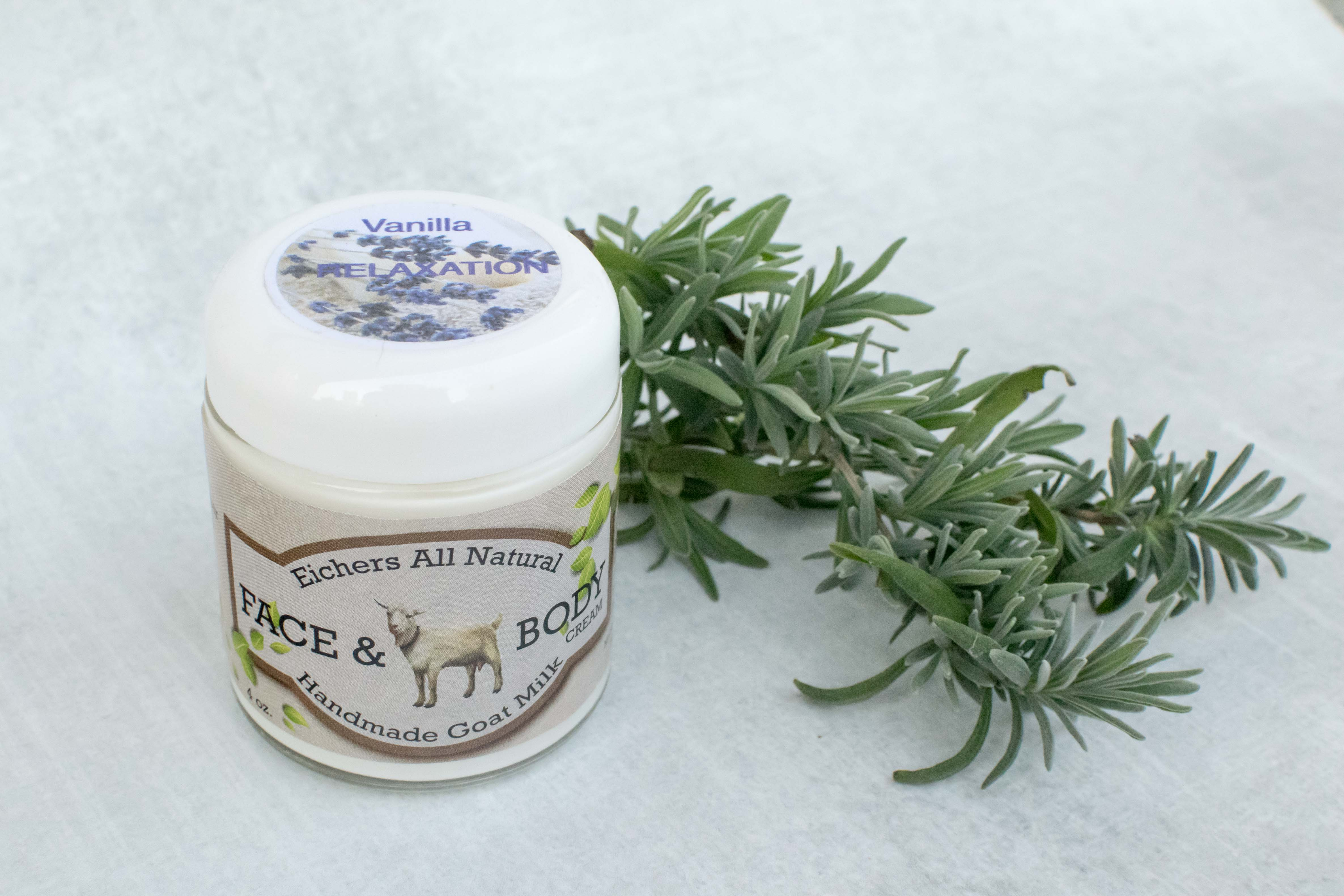 Vanilla Handcrafted Goat Milk Face and Body Cream - eichershobbyfarm - Goat Milk Products - Avon, Minnesota