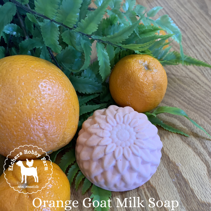Orange Handcrafted Goat Milk Soap - eichershobbyfarm - Goat Milk Products - Avon, Minnesota