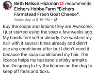 Black Licorice Handcrafted Goat Milk Soap - eichershobbyfarm - Goat Milk Products - Avon, Minnesota