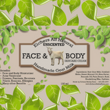 Unscented Handcrafted Goat Milk  Face and Body Cream in a pump 100ml