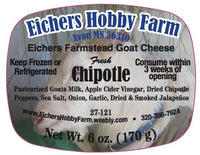 Chipotle - Fresh Artisan Goat Cheese - 6 oz. - eichershobbyfarm - Goat Milk Products - Avon, Minnesota