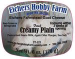 Fresh Artisan Goat Cheese -Creamy Plain - 6 oz. - eichershobbyfarm - Goat Milk Products - Avon, Minnesota