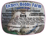 Fresh Artisan Goat Cheese -Herb - 6 oz. - eichershobbyfarm - Goat Milk Products - Avon, Minnesota