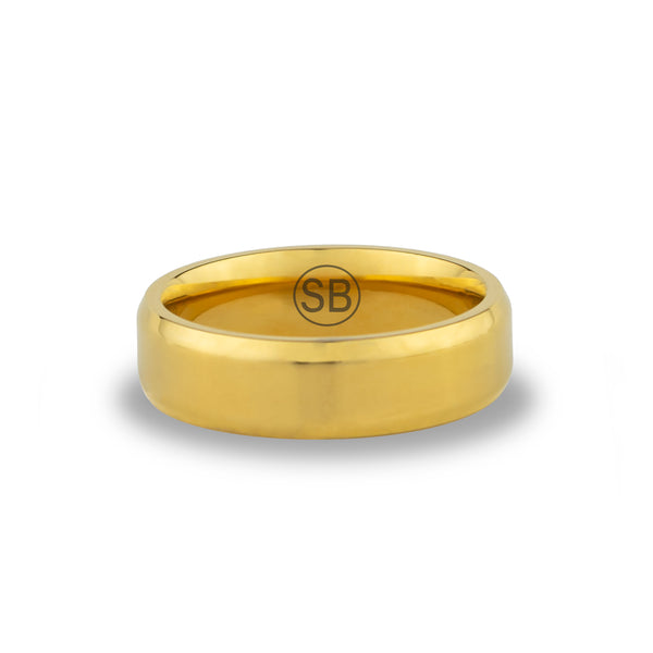 Gold Beveled - 6MM