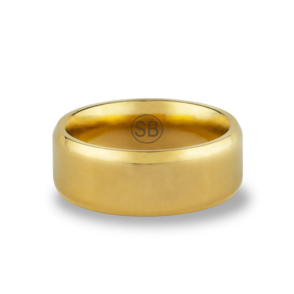 Gold Beveled - 8MM