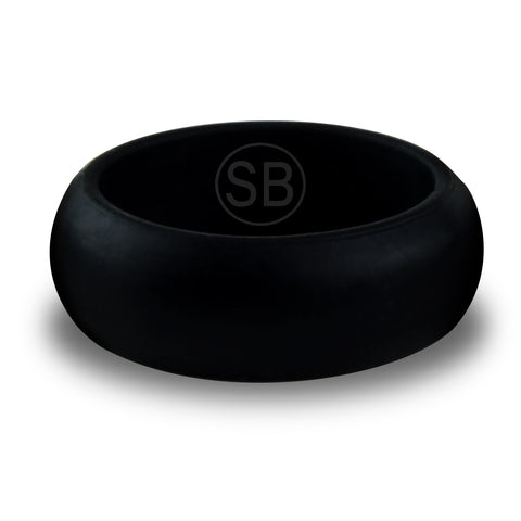 Black Silicone Domed - 8MM