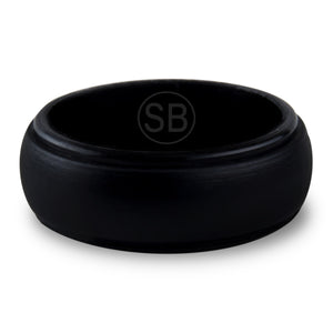 Black Silicone Edged - 8MM