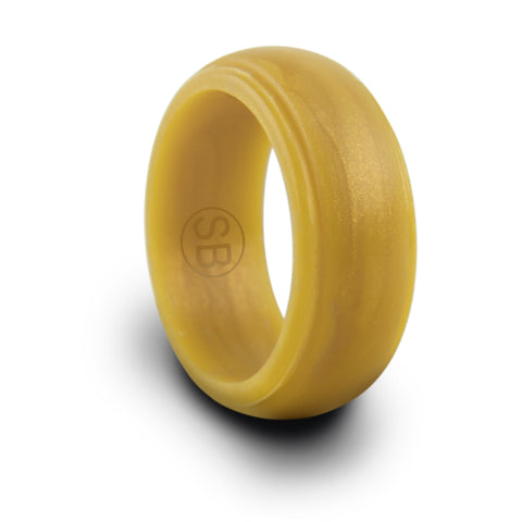 Gold Silicone Edged - 8MM