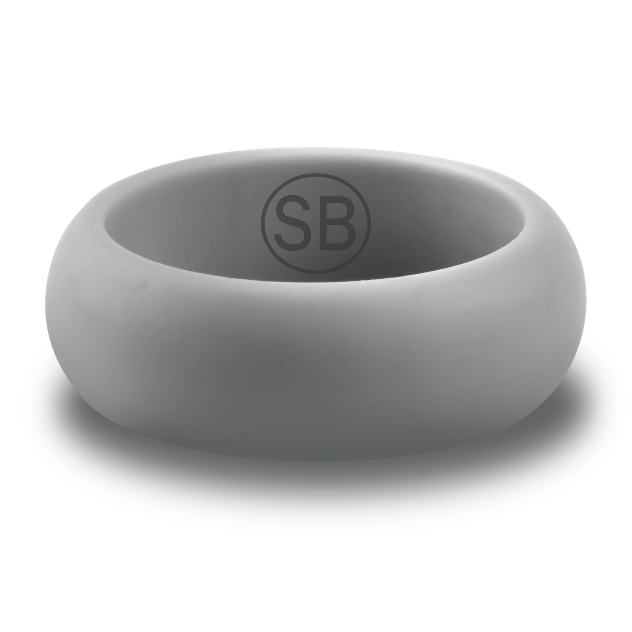 Light Gray Silicone Domed - 8MM