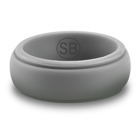 Light Gray Silicone Edged - 8MM