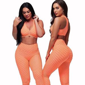 Yoga Sports Bra and Pants Set [VIBRANT]