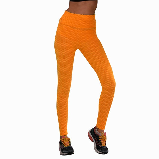 Honeycomb Butt Lifting Yoga Pants [Gives Thicker More FULL Appearance]