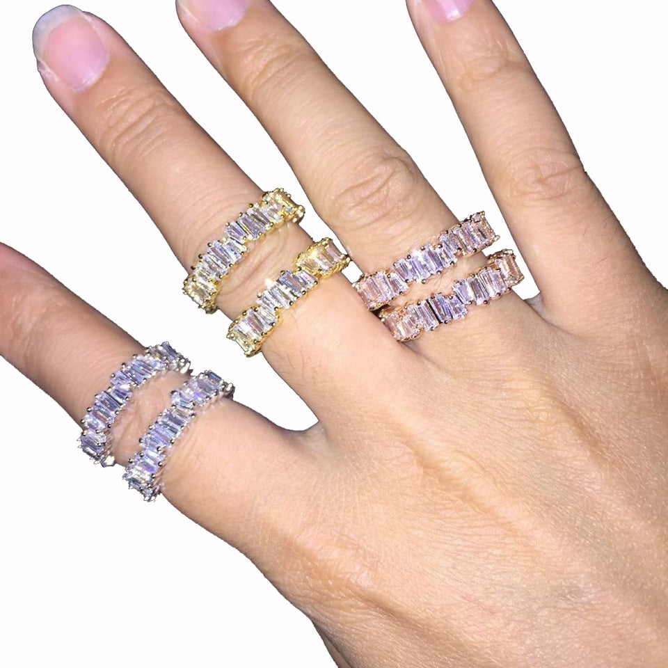 Baguette Rings [BRILLIANT SHINE]