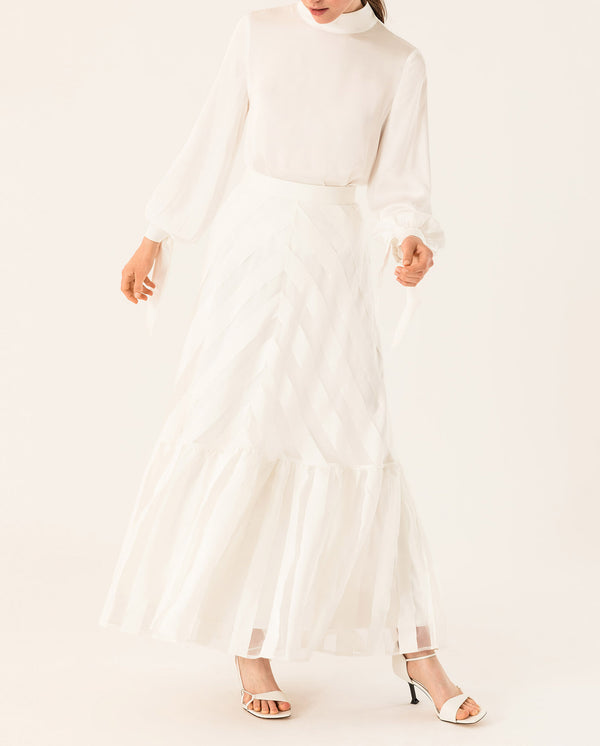 Maxi Bridal Rock gestreift