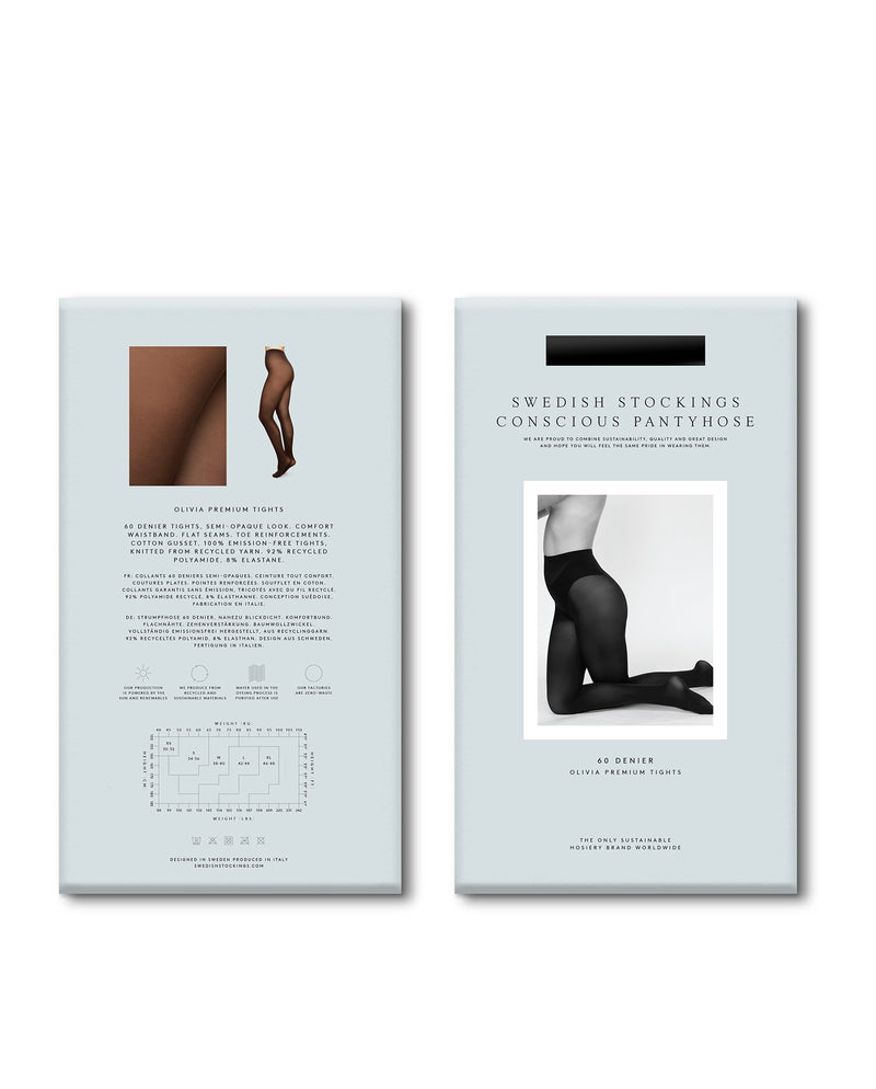 Olivia Premium Strumpfhose Dunkelblau von Swedish Stockings