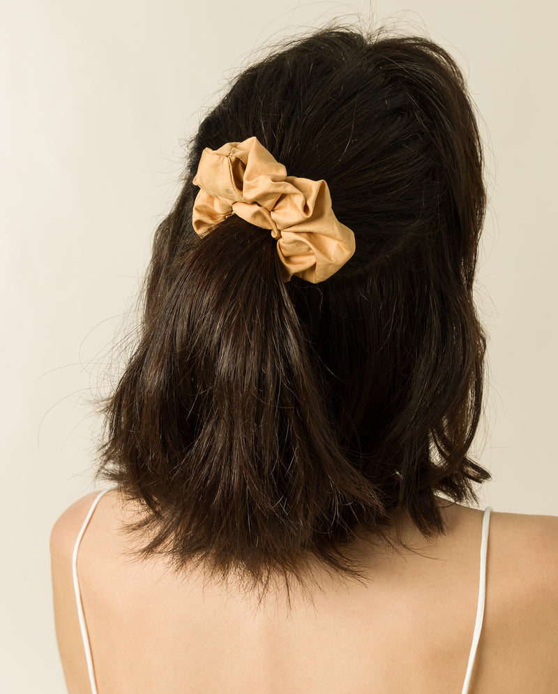 Handmade Scrunchy in Golden Cream
