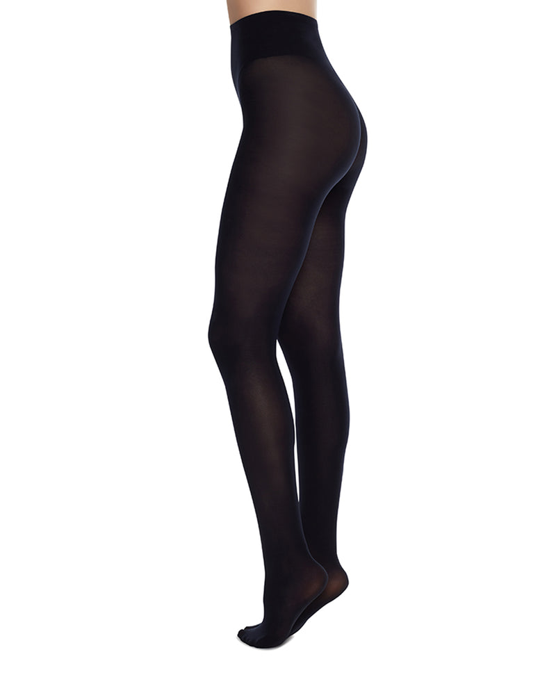Olivia Premium Tights Navy Blue by Swedish Stockings