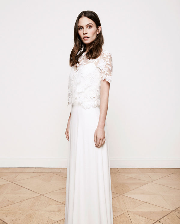 2 in 1 Bridal Embroidery Dress