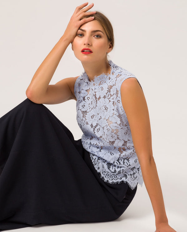 Lace Top Serenity Blue