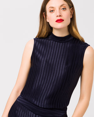 Stand-Up Collar Top