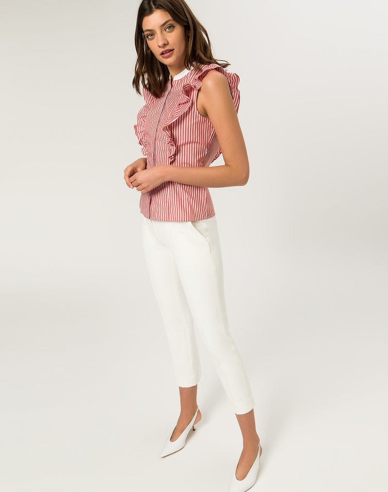 Valance Top Contrast Collar