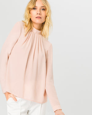 Stand-up Collar Blouse
