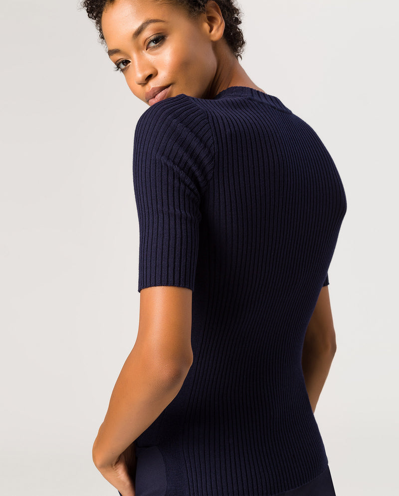 Halfarm Jumper Navy Blue