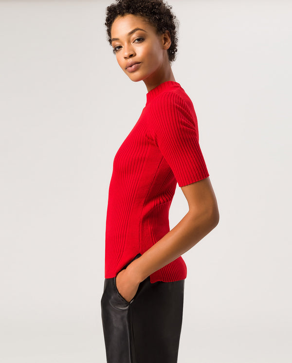Halfarm Jumper Fire Red