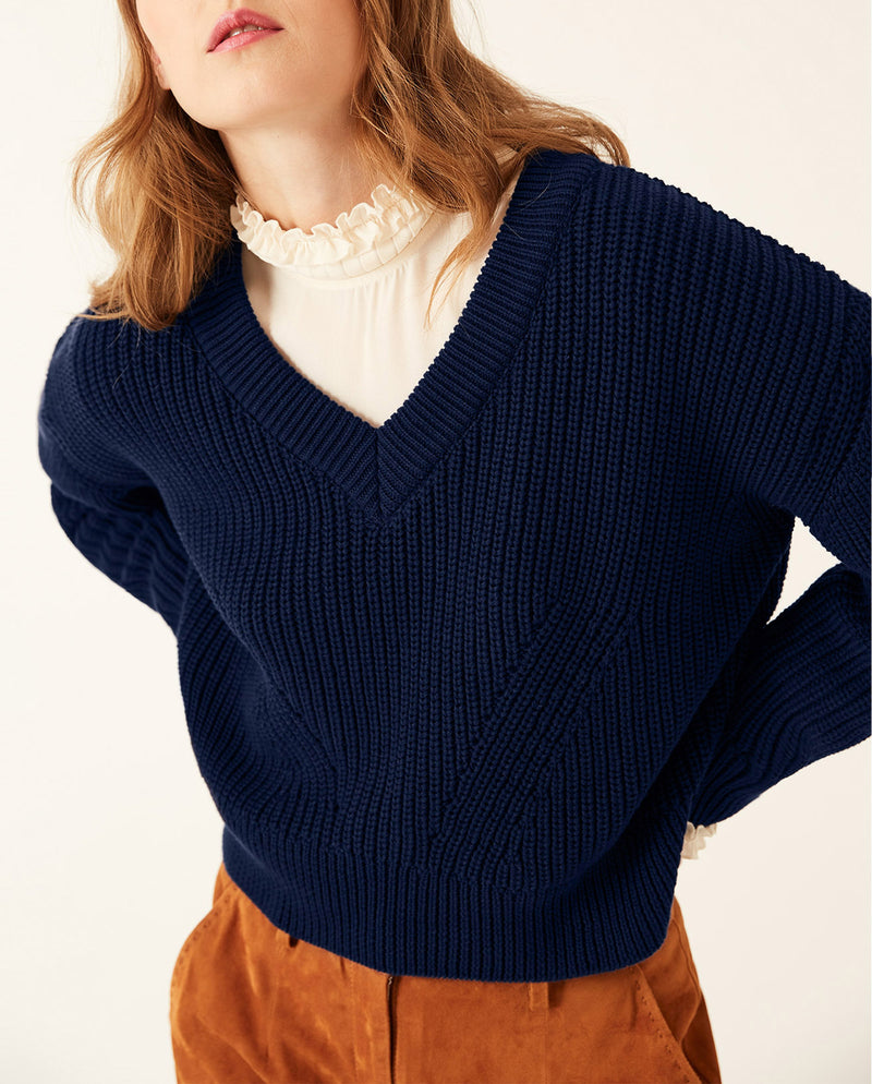 Wide Sleeve Jumper True Blue